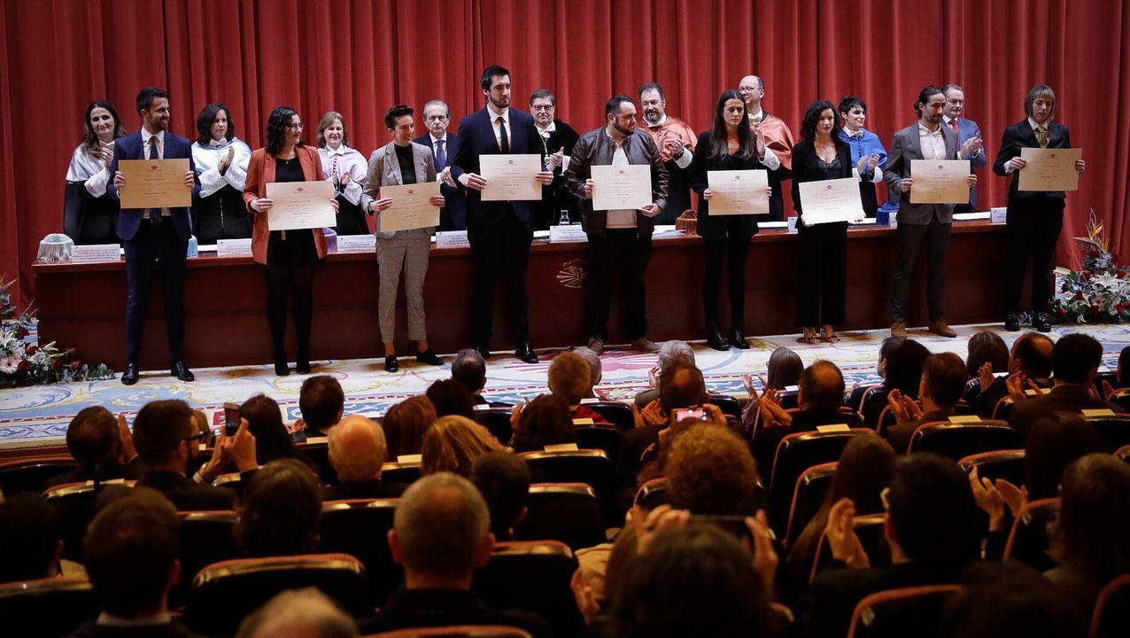 Entrega de premios en el Día de la Universidad en la UDC