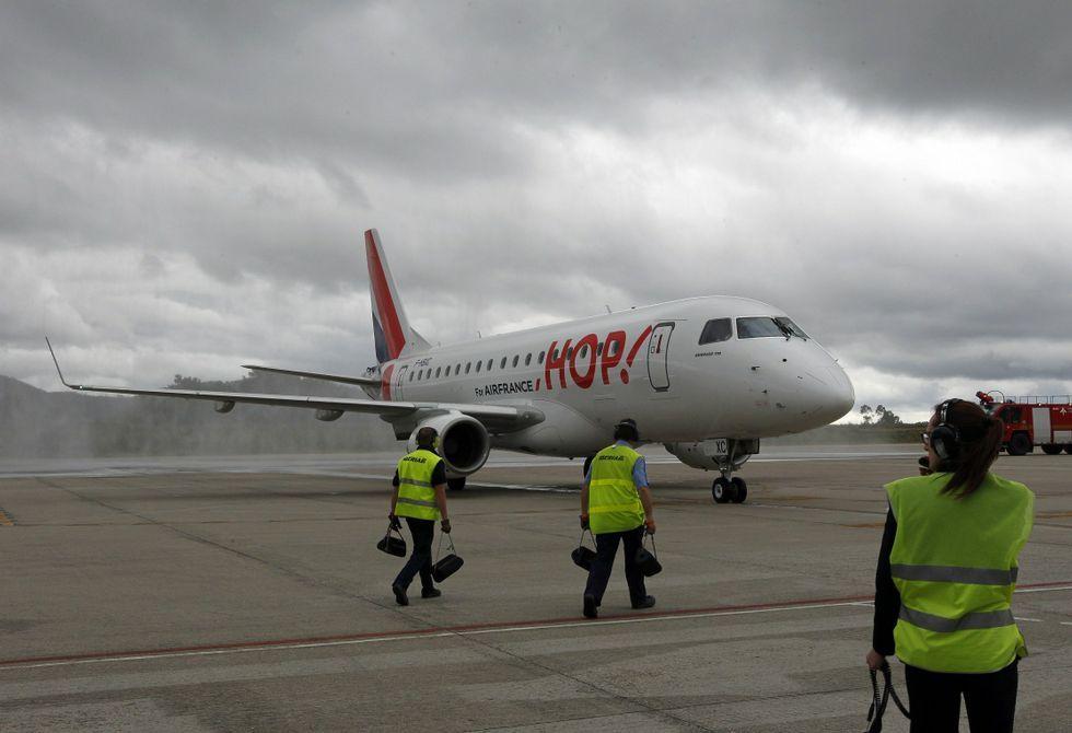 Hop! es la filial de Air France con la que la compañía gala acabó ayer sus servicios en Vigo.