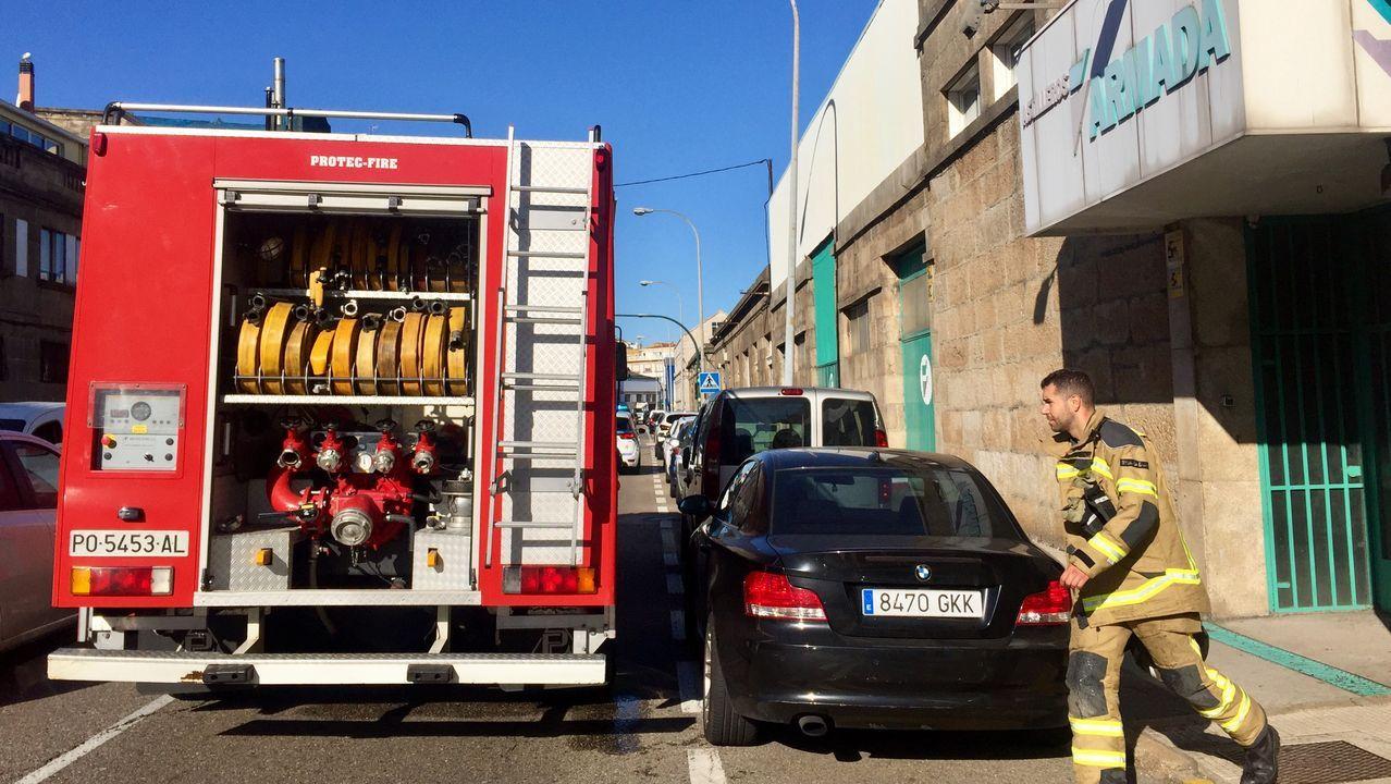 Barbanza registra siete incendios entre la madrugada y esta mañana.Terrenos quemados en el incendio del pasado jueves en la parroquia de Mañente, en Pantón