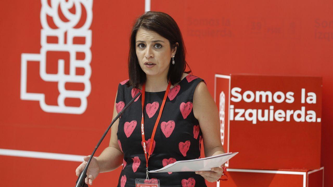 La diputada del PSOE Adriana Lastra presentó la estructura del congreso