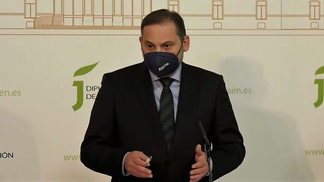 El ministro Ábalos, este miércoles, en Jaén