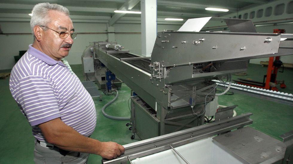 David Corral, en las instalaciones de su empresa, en una foto de septiembre del 2011