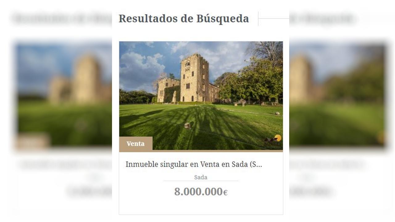 Concentración de repulsa por el asesinato de Clara María Expósito.El anuncio de la venta del Pazo de Meirás continúa publicado en la web de la inmobiliaria