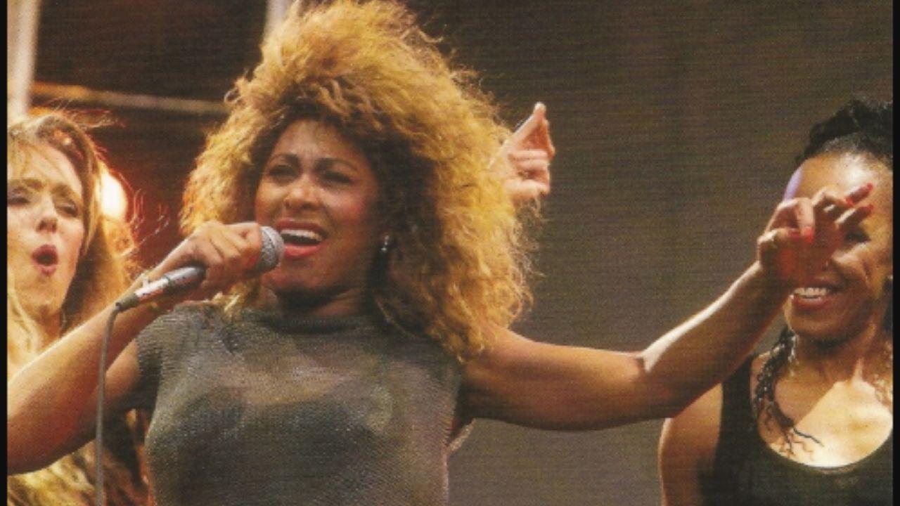 Tina Turner, en una fotografía de la gira de 1990 que recaló en Gijón