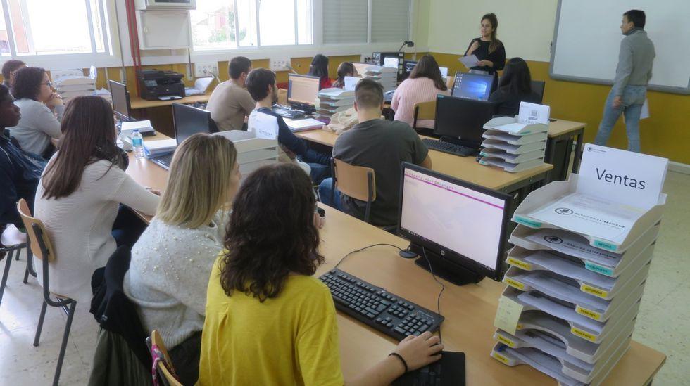 Imagen de archivo del instituto A Pinguela, de Monforte, que tiene dos ciclos (medio y superior) de la familia de Administración e Xestión