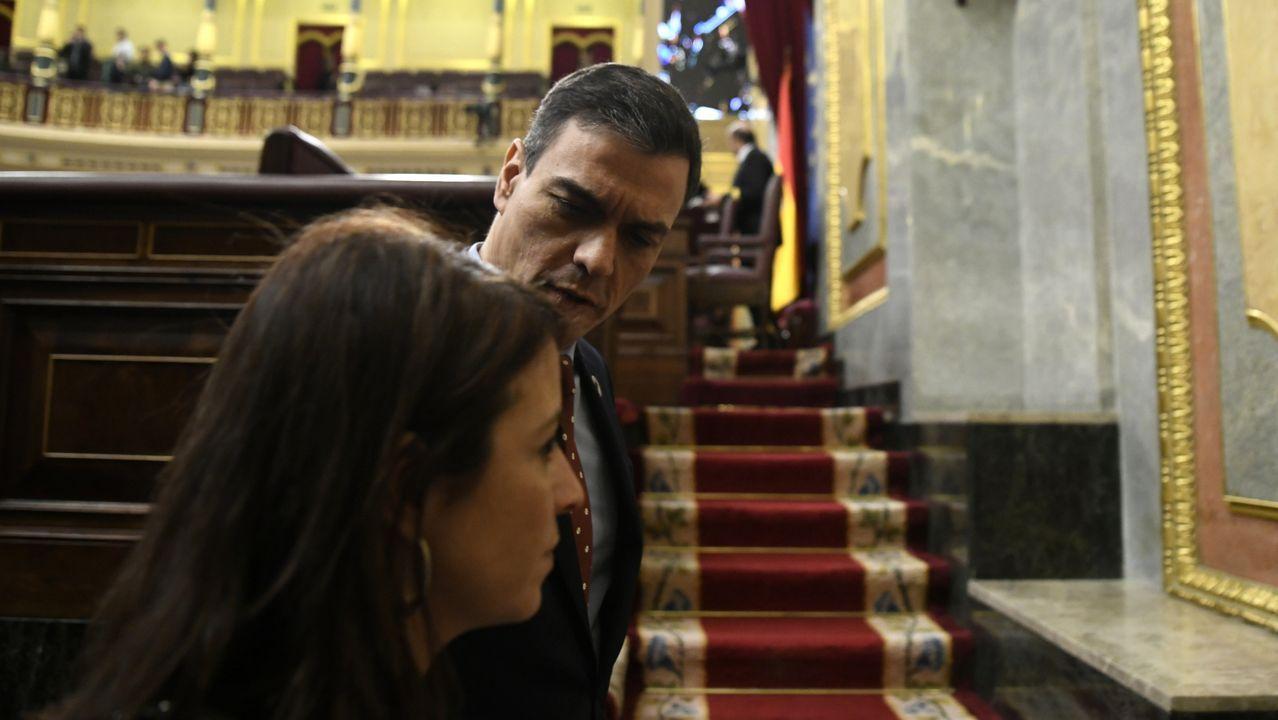 Comparecencia de Pedro Sánchez en el Congreso.Iglesias, en una foto de archivo junto a Irene Montero, exigía estar en la comisión de Inteligencia