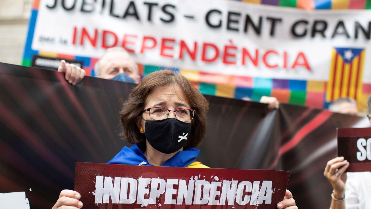 Manifestación de la ANC reclamando un nuevo Gobierno en Cataluña