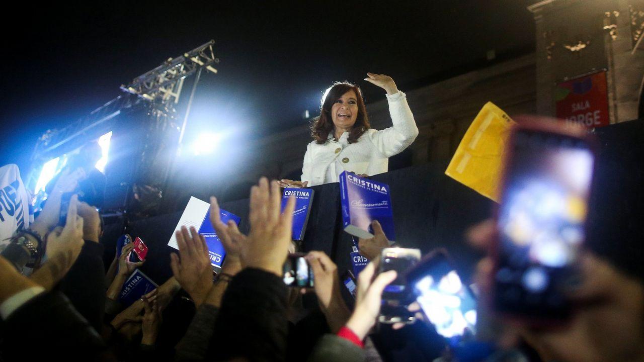 Cristina Fernández, durante la presentación de su libro  Sinceramente , el pasado 9 de mayo en Buenos Aires