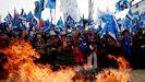 Simpatizantes de Evo Morales cerraron la campaña en Pachamaná en un acto marcado por la llamada a la movilización de los colectivos indígenas para intentar recuperar el poder del que fue desalojado tras el fraude en los comicios del pasado año