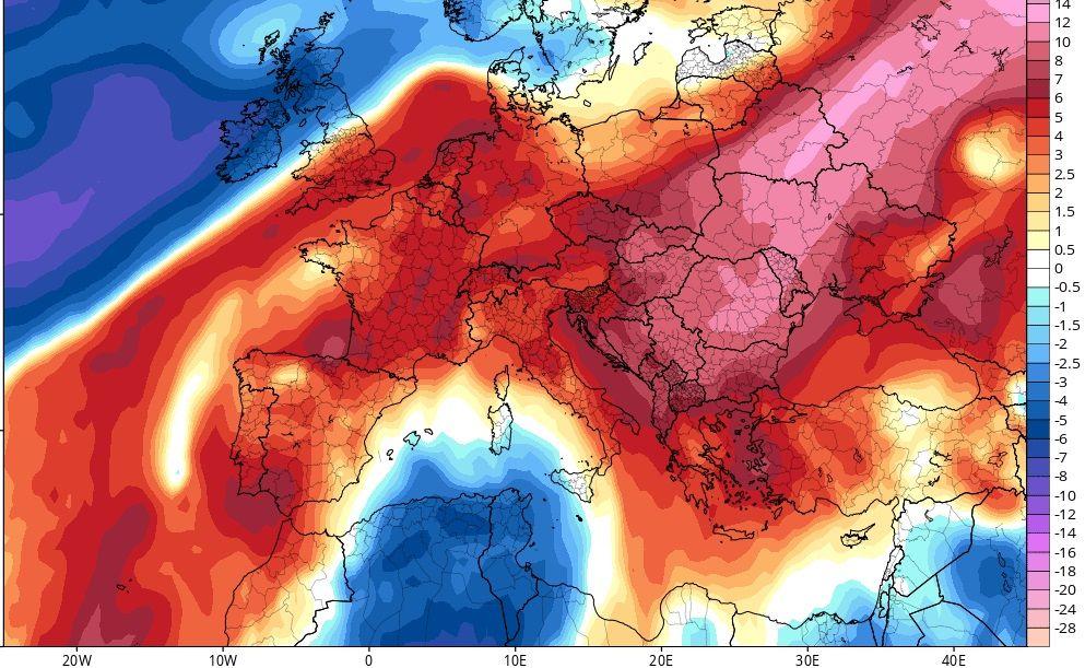 El fin de semana se esperan anomalías térmicas positivas