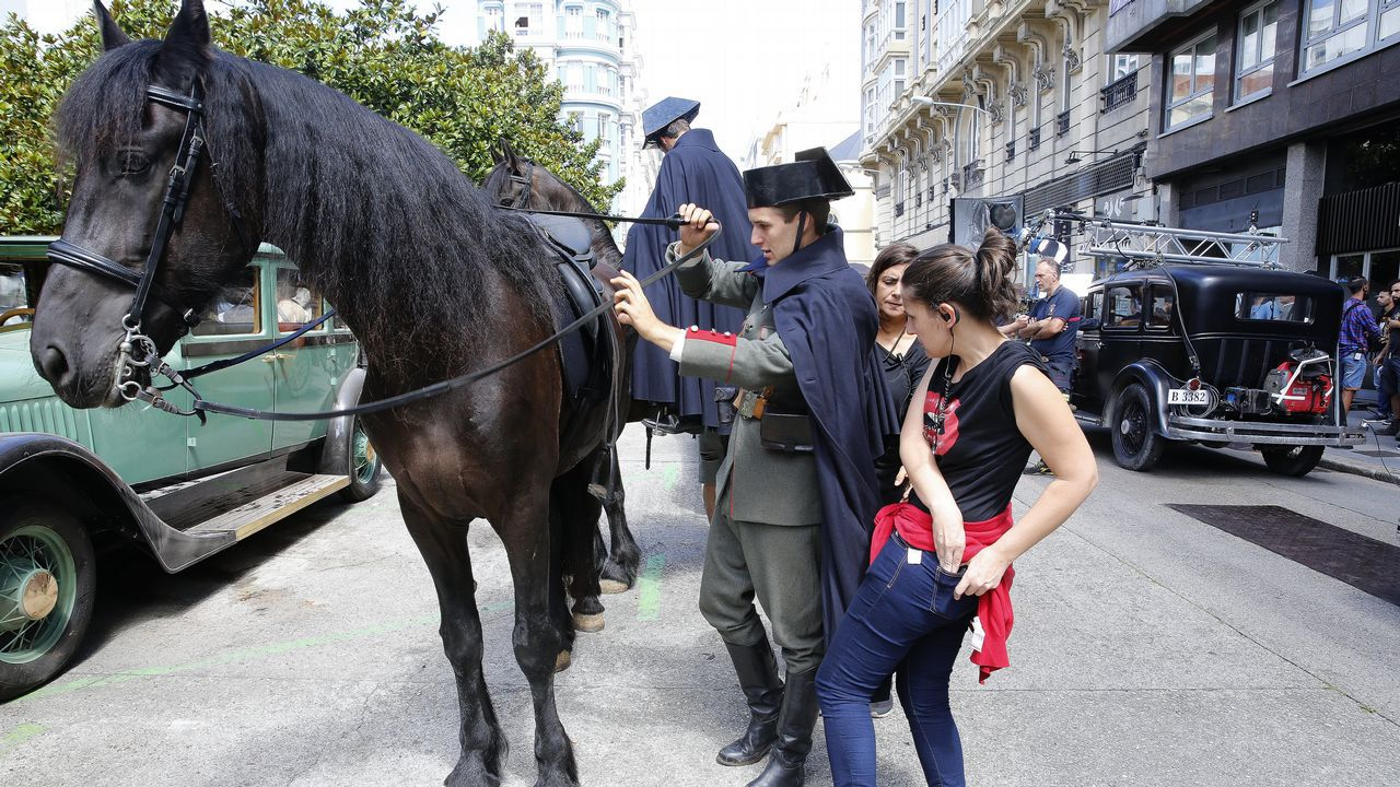 Rodaje en A Coruña de  La sombra de la Ley