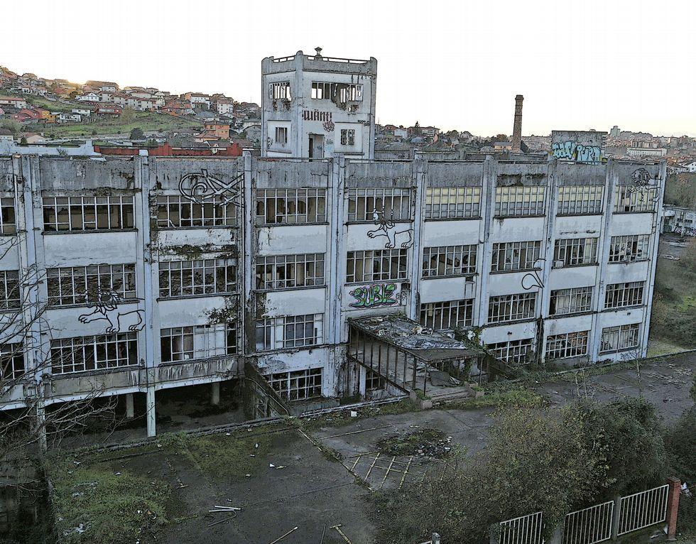 Fábrica de GEA en Cabral, en estado ruinoso