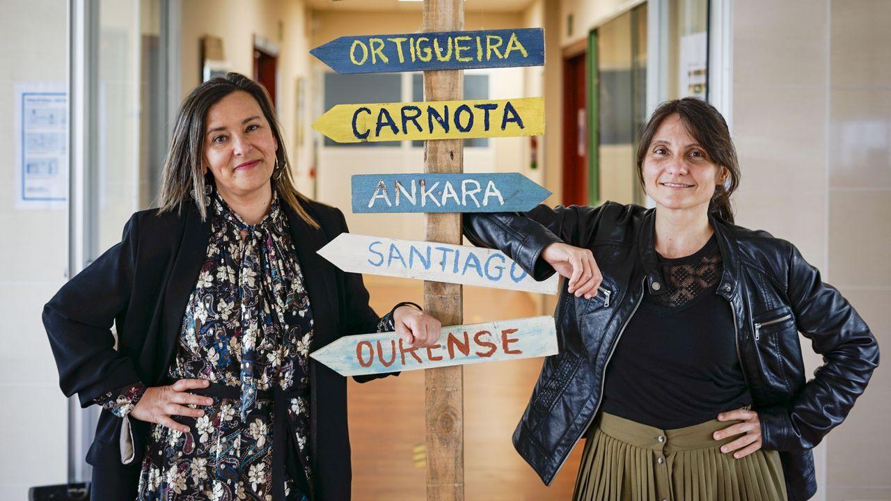 Las profesores del IES Vilamarín que coordinan los proyectos que participan en el FP Innova
