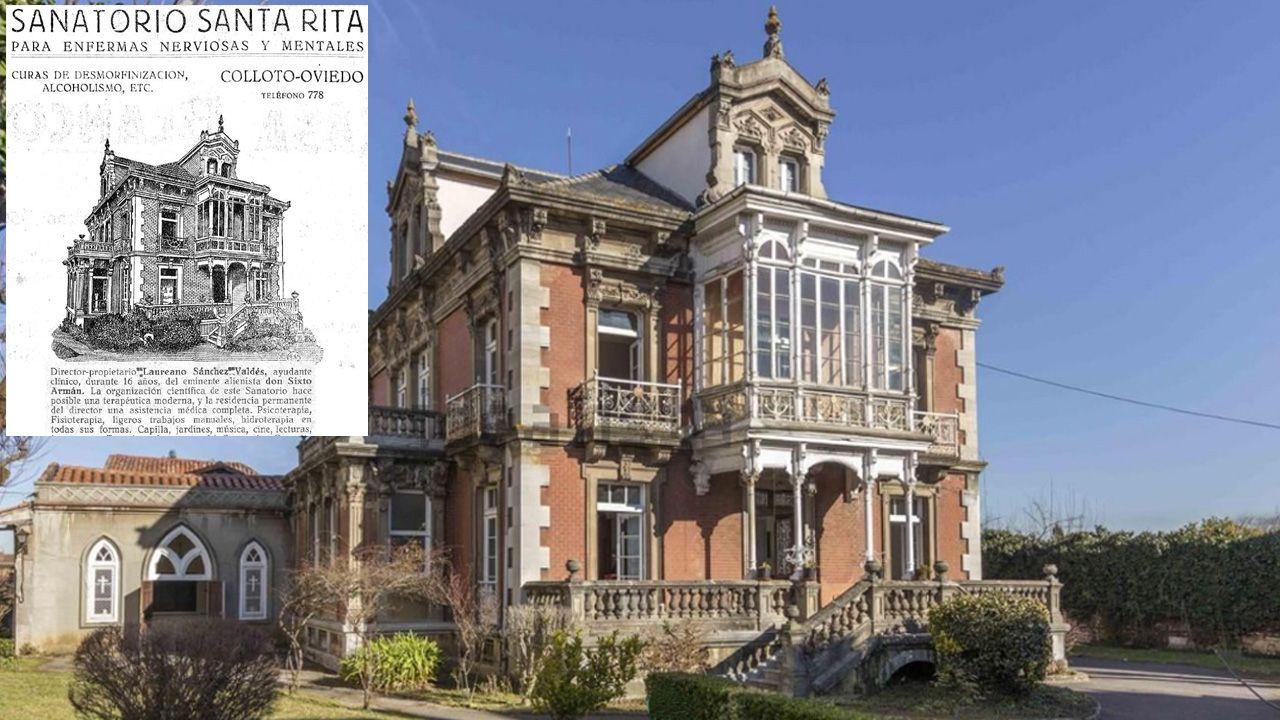 Antiguo Sanatorio Santa Rita, en Colloto, que cesó su actividad en los años 50 del siglo pasado.