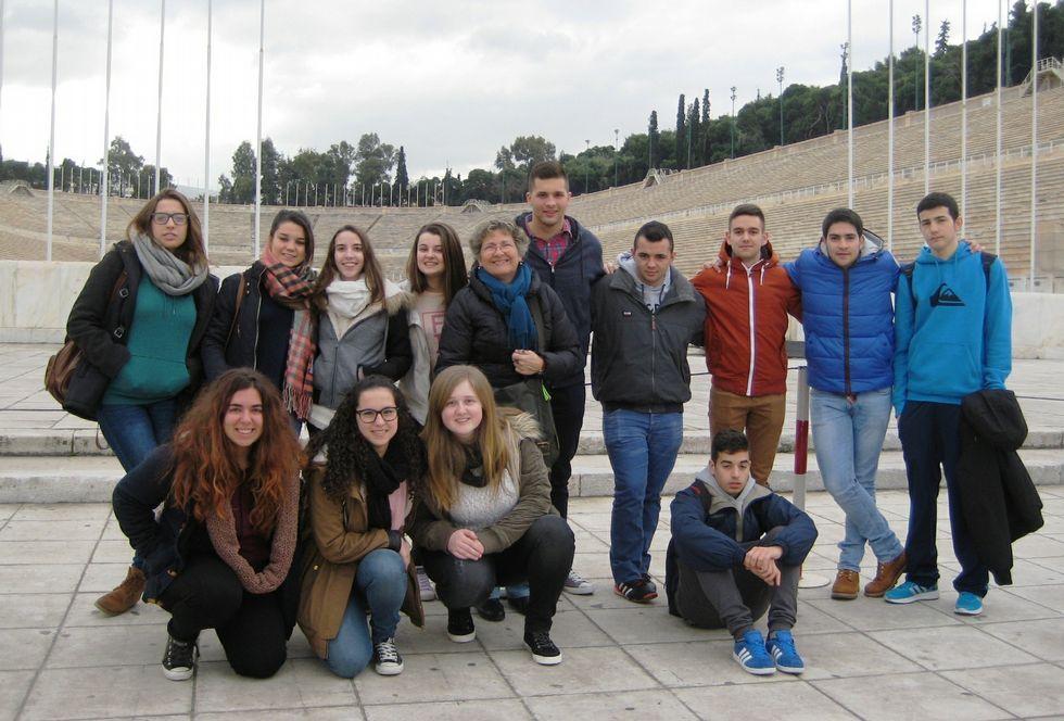 Alumnos de Negreira y Santiago se fueron de viaje a Grecia.