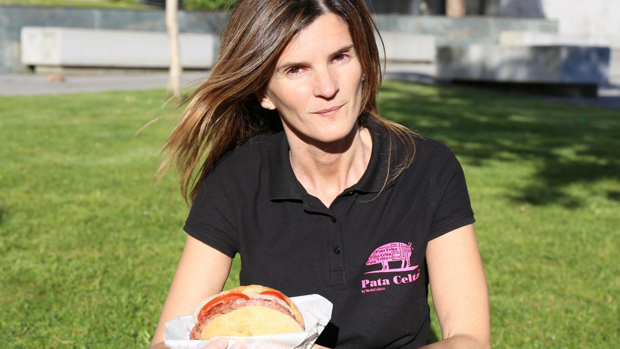 Maira Vilar, productora de carne de porco celta