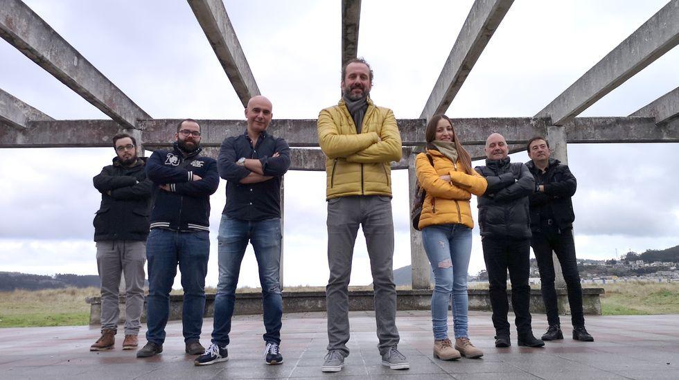 La Banda de Música de Ferrol, durante un concierto ofrecido en el año 2018 en la plaza de Sevilla