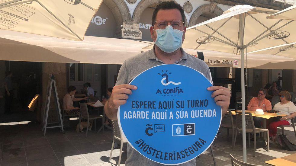 Antón Sáez, portavoz de los hosteleros de La Marina de A Coruña y propietario de varios locales en la capial herculina. Imagen de archivo