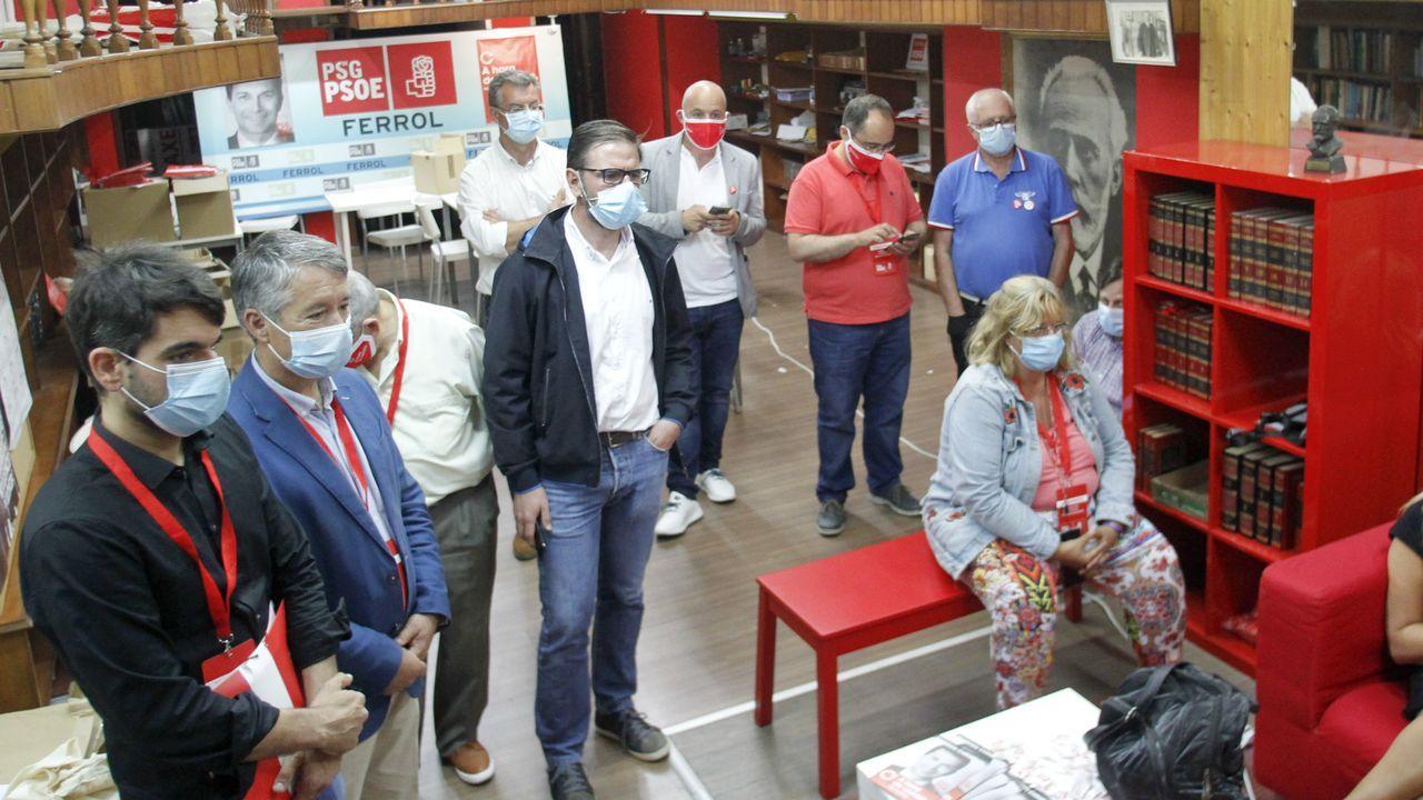 José Manuel Baltar valora los resultados electorales.Ana Pontón celebra los resultados la noche del 12J