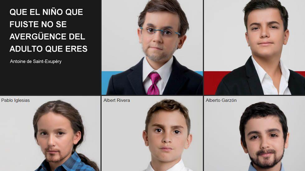 Greenpeace convierte a los principales candidatos en niños.Sonia y Charo son de esas personas que están dispuestas a cambiar el mundo. Y conociéndolas, cualquiera diría que lo van a conseguir.