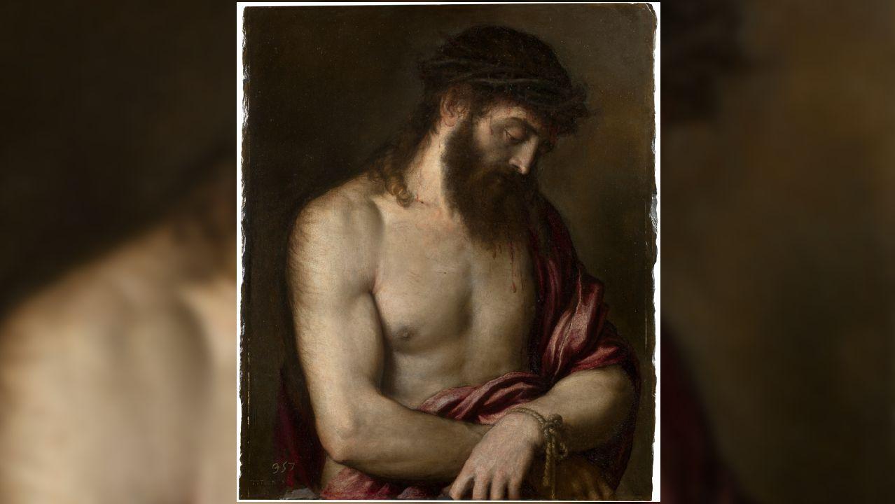 Eccehomo pintado por Tiziano en 1547