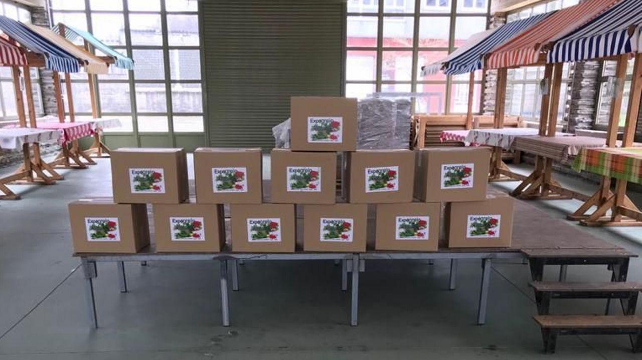 Los envíos se distribuyen desde el recinto ferial de Gontán
