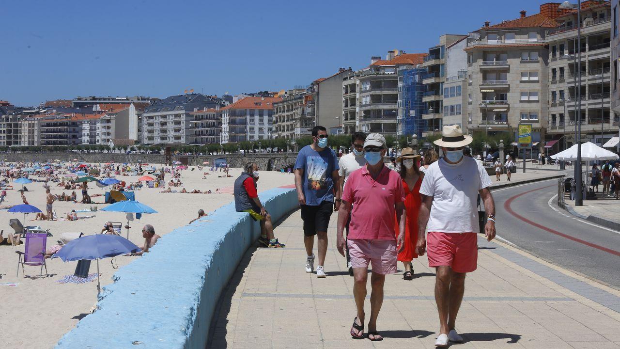 Sanxenxo es uno de los destinos fetiche de los portugueses en los puentes festivos, como el que mañana empieza en el país vecino