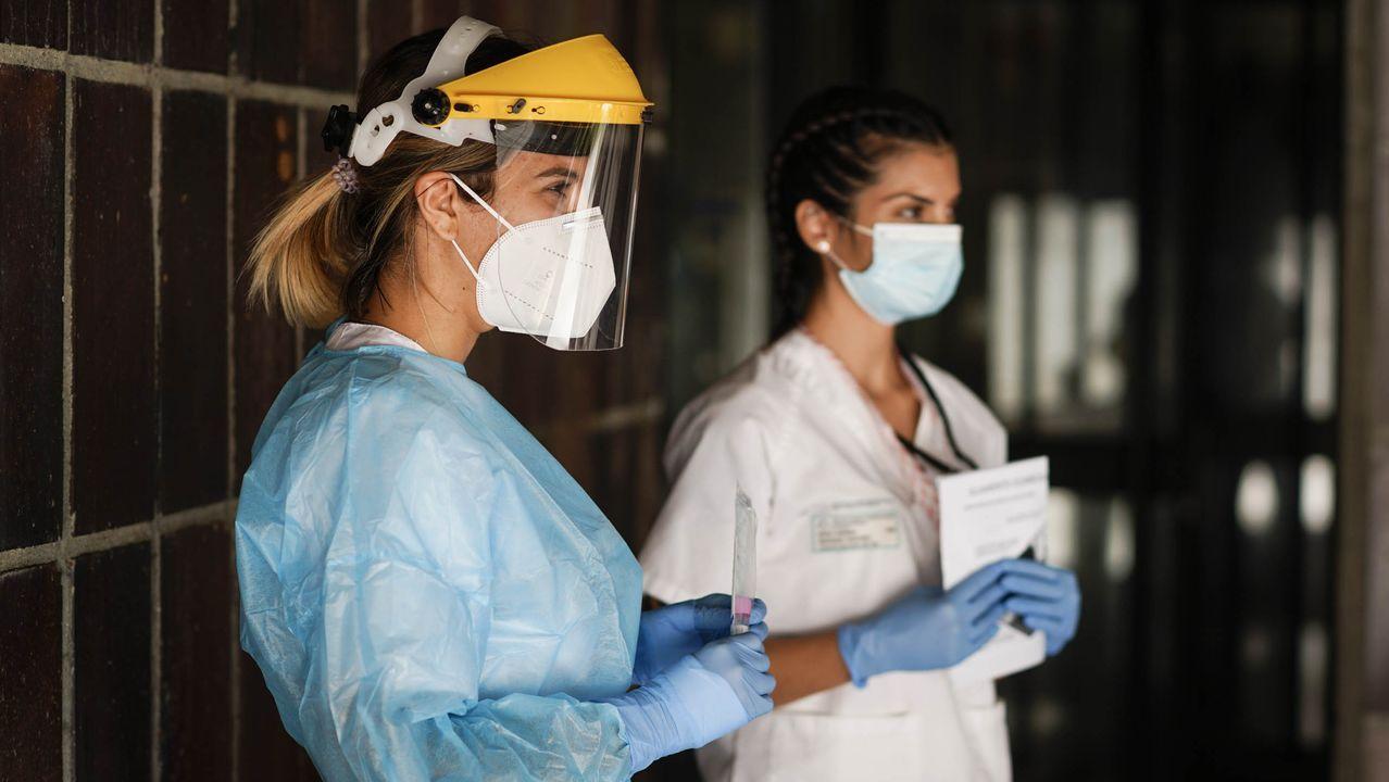 Punto de toma de muestras covid-19 en el hospital Santa Maria Nai
