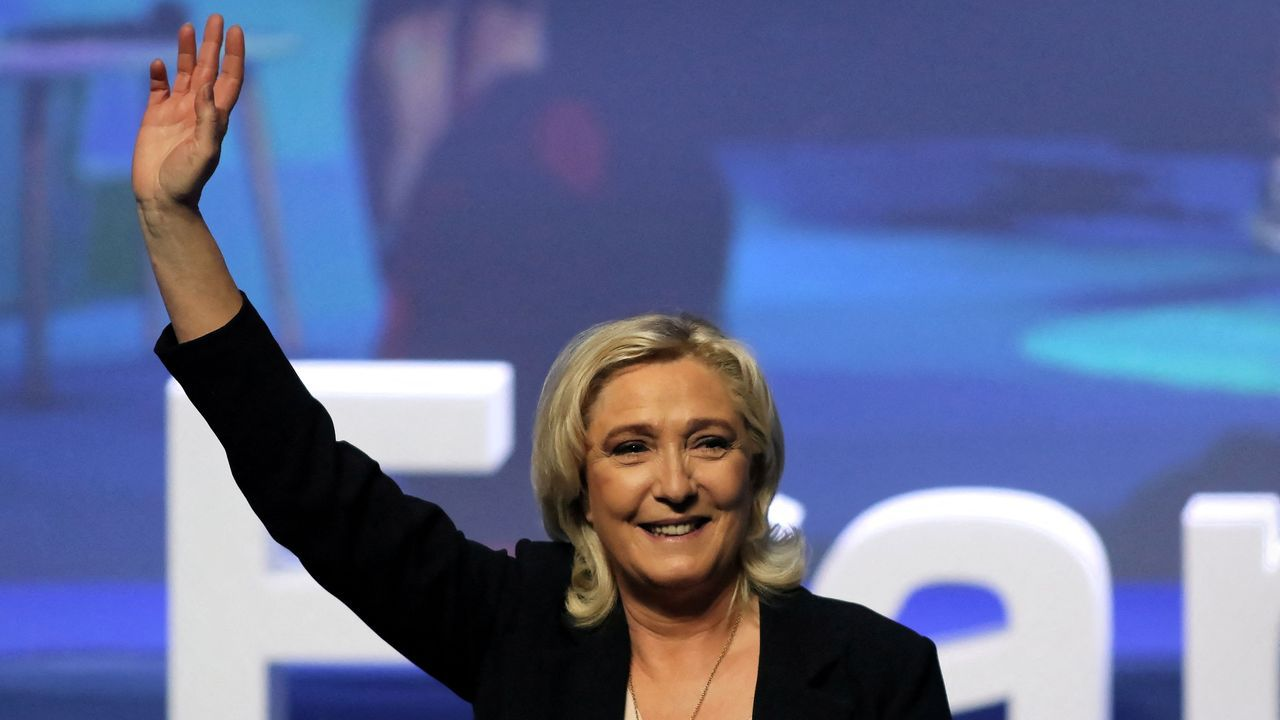 Marine Le Pen fue reelegida este domingo presidenta de la Agrupación Nacional  por cuarta vez consecutiva en el congreso de su partido