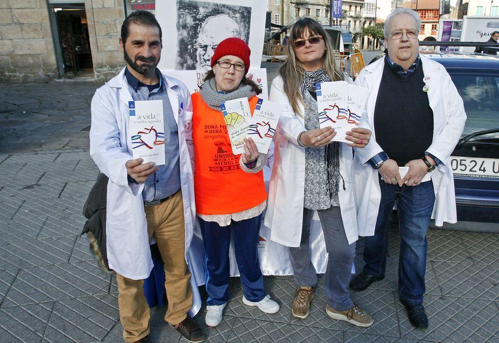 Llovo presentó la campaña con los representantes de asociaciones de donantes de órganos.