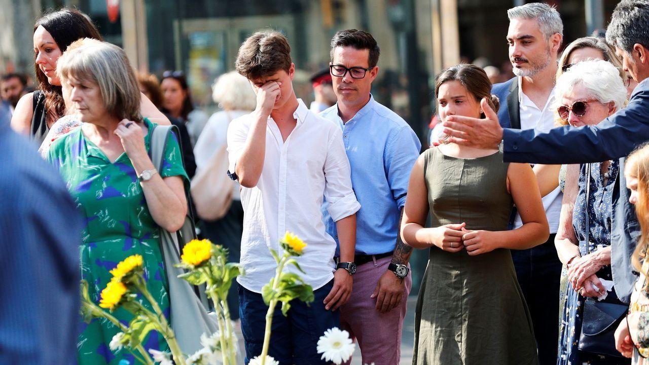 Homenaje a las victimas del 17A en el primer aniversario de los atentados en La Rambla y Cambrils