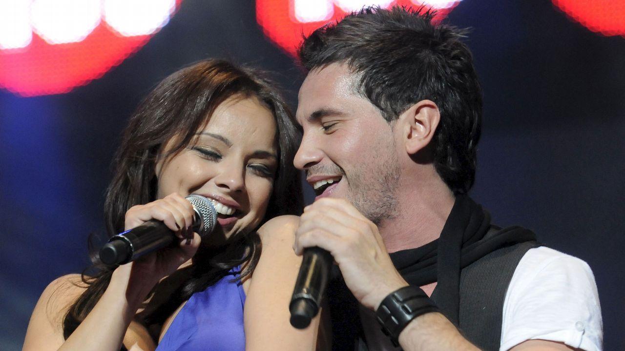 Con David de María en un concierto en el 2010