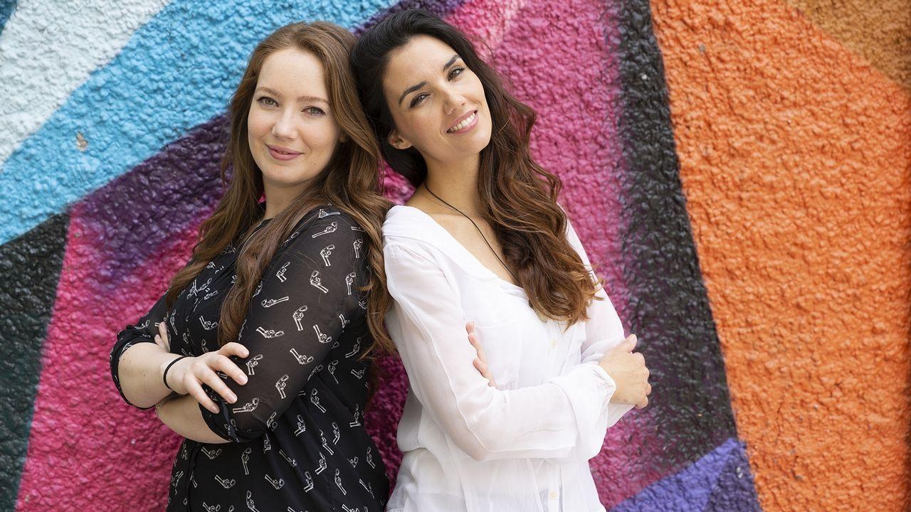 Dani Abeledo, a la izquierda, y Melo García, retratados ayer en las instalaciones de RR Studio's