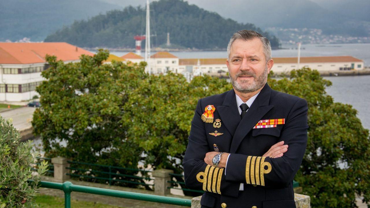 José María Núñez Torrente, en la Escuela Naval de Marín