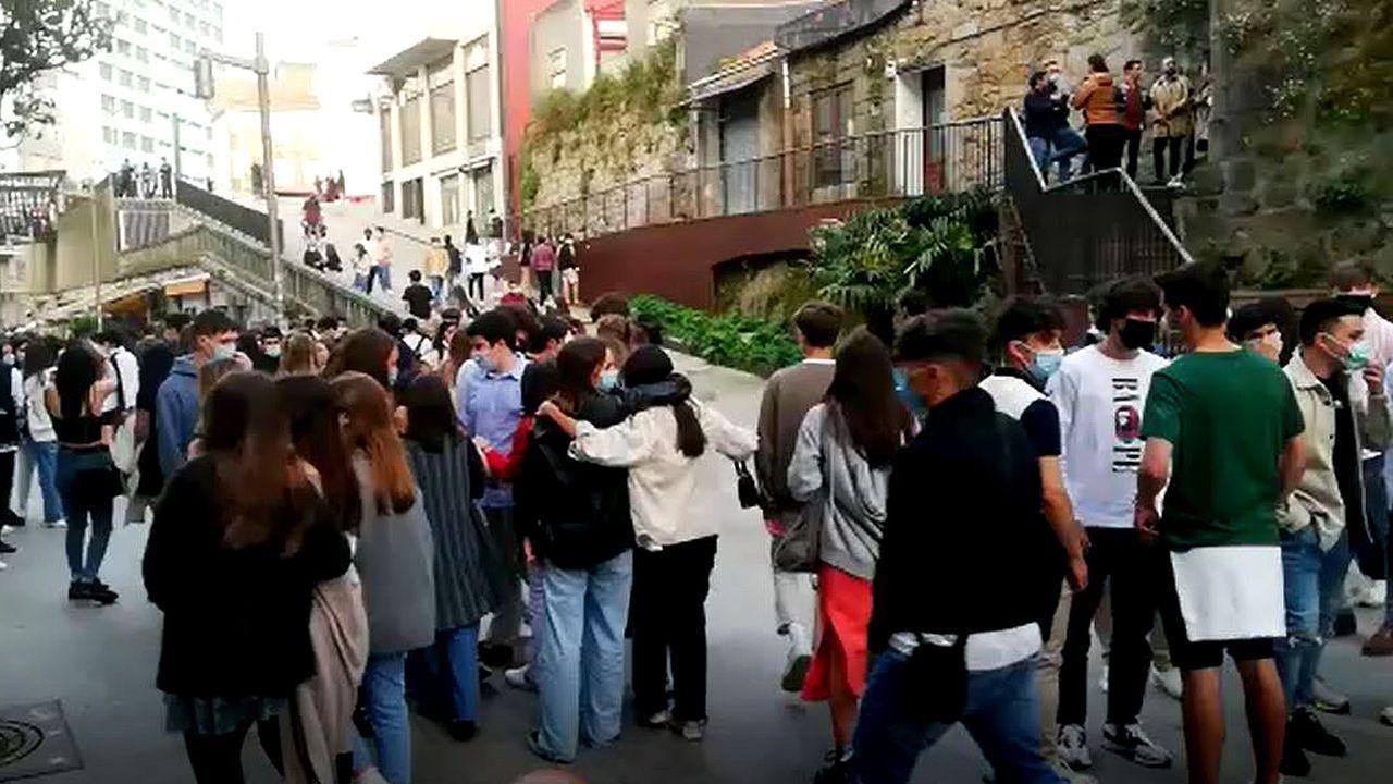 El Casco Vello de Vigo, a tope