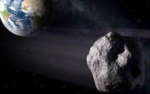 La trayectoria del asteroide 2012 DA14.Recreación del paso del asteroide facilitada por el Observatorio Astronómico de Mallorca