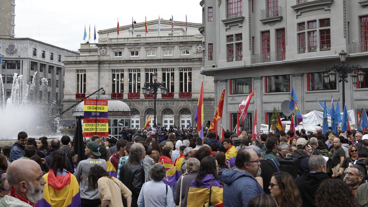 La protesta republicana en Oviedo