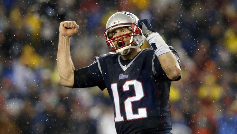 La gran noche de Tom Brady.Katy Perry durante la rueda de prensa anterior a la Super Bowl