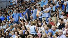 Aficionados del Breogán durante un partido en el Pazo