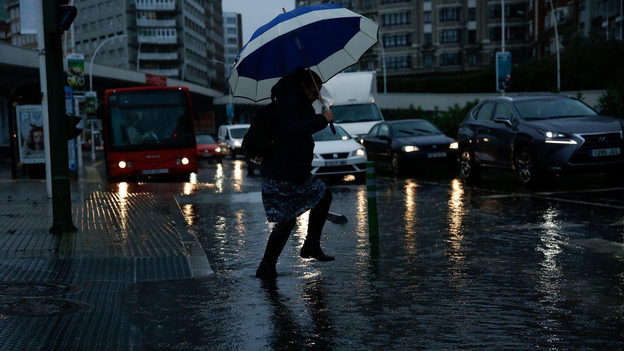 Incidencias en A Coruña por el temporal