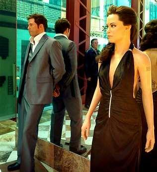 Gina Carano, estrella de las artes marciales mixtas.Las imágenes de cera de Pitt y Jolie ya lucen en el Museo de Cera de México.