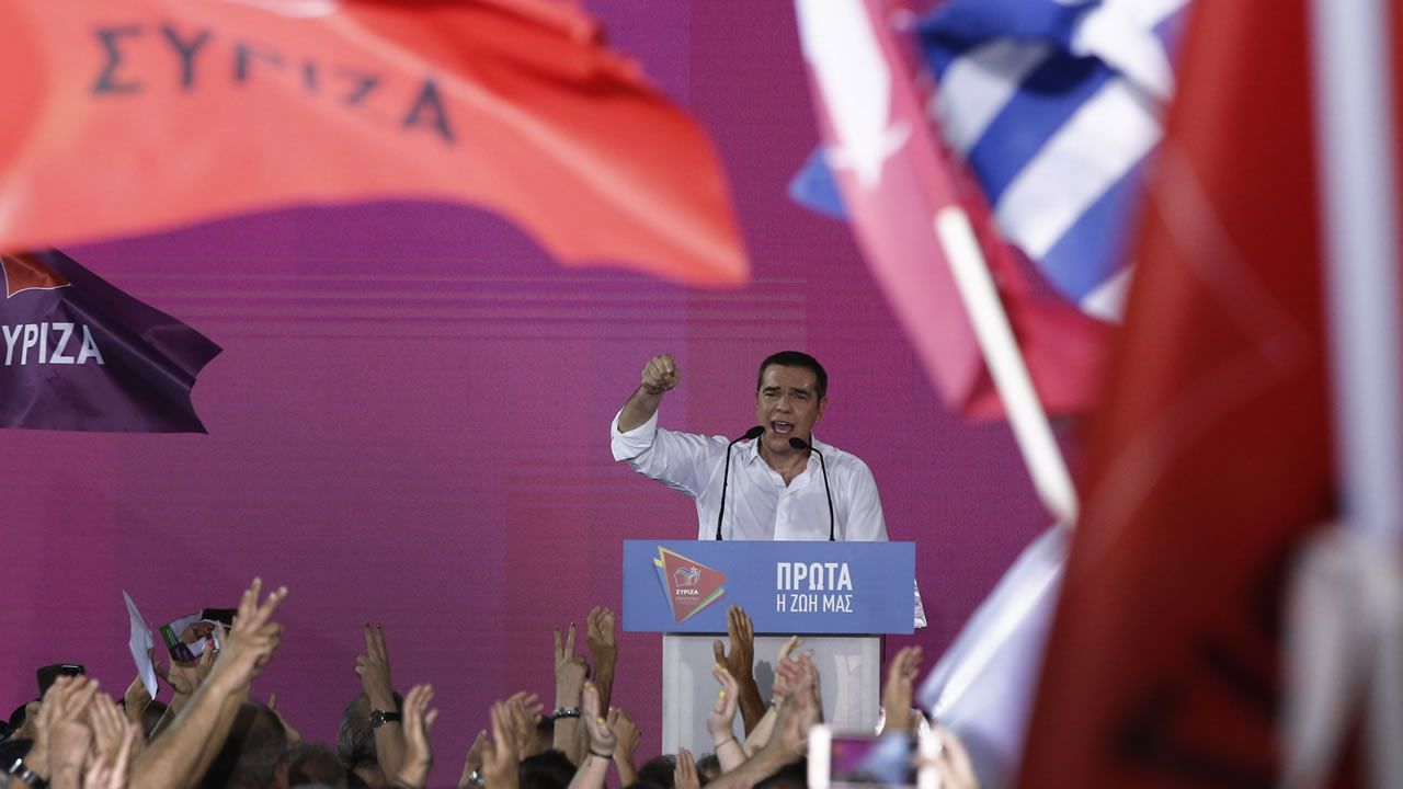 El exprimer ministro griego, Alexis Tsipras