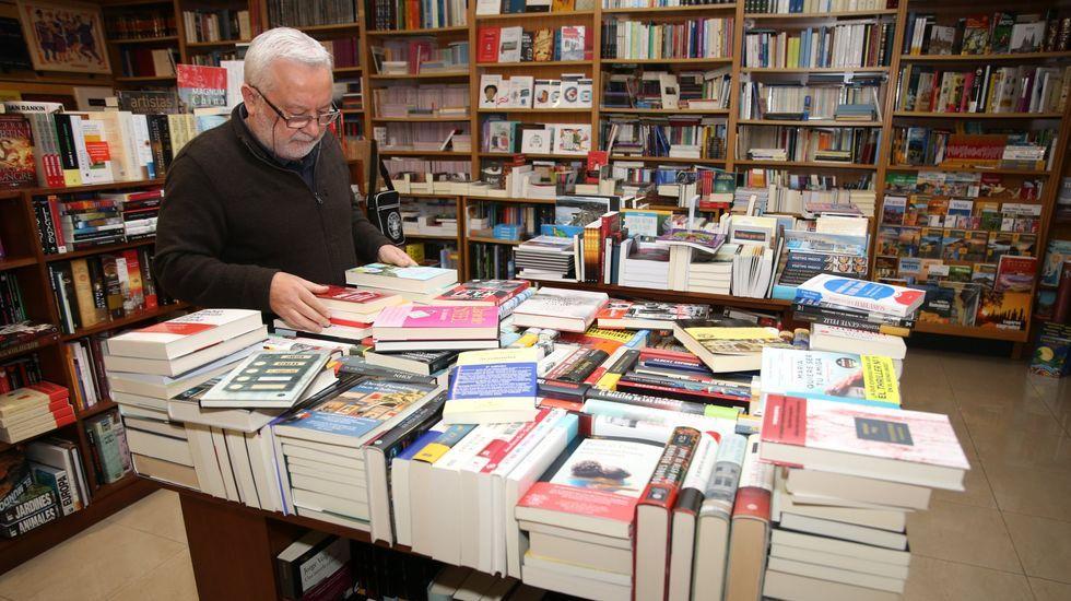 O libreiro Moncho Tasende