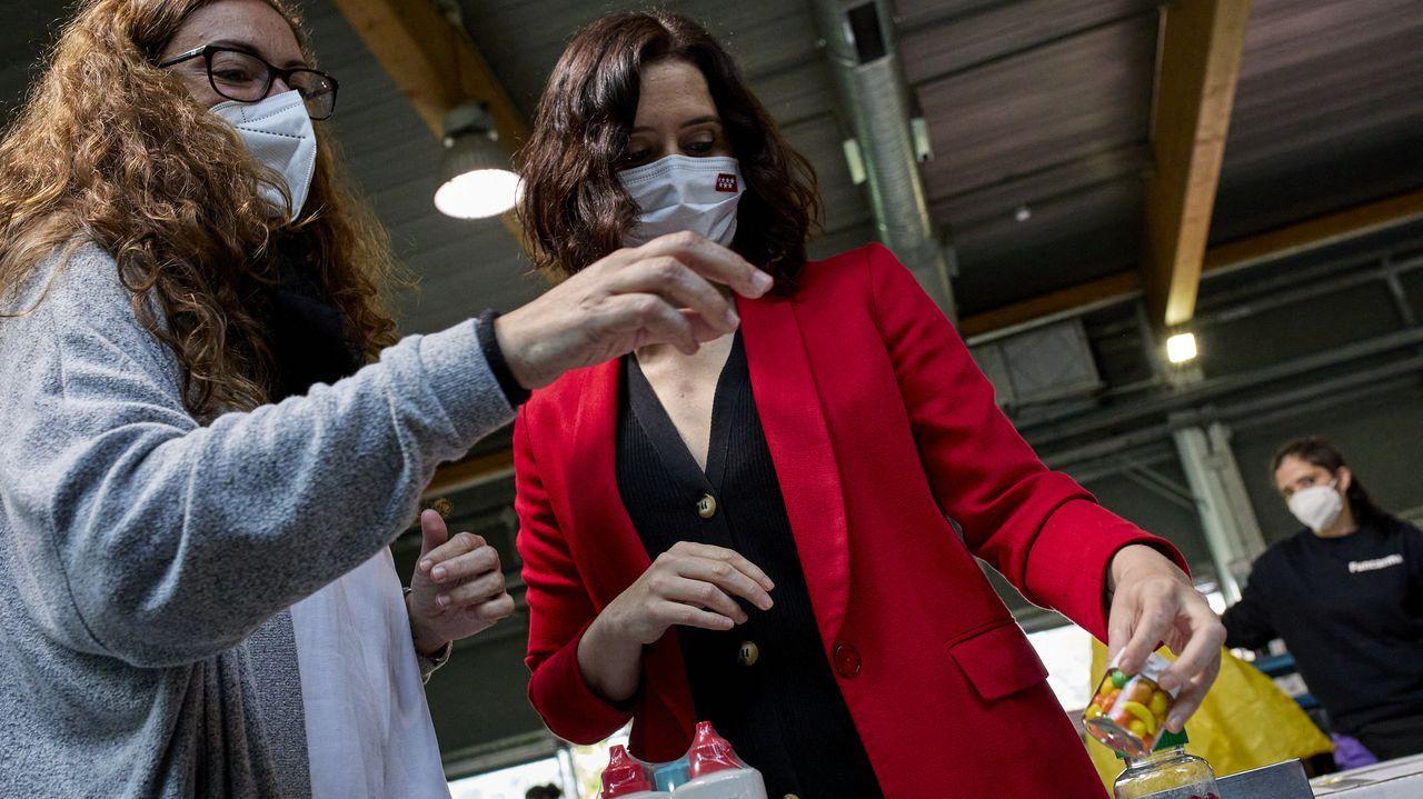La candidata del PP y presidenta de la Comunidad de Madrid, Isabel Díaz Ayuso