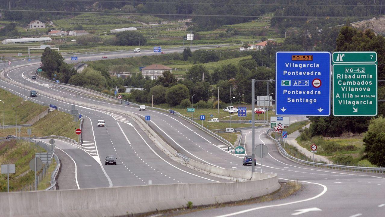 La mejora del firme de la Autovía do Salnés parará en julio para evitar atascos
