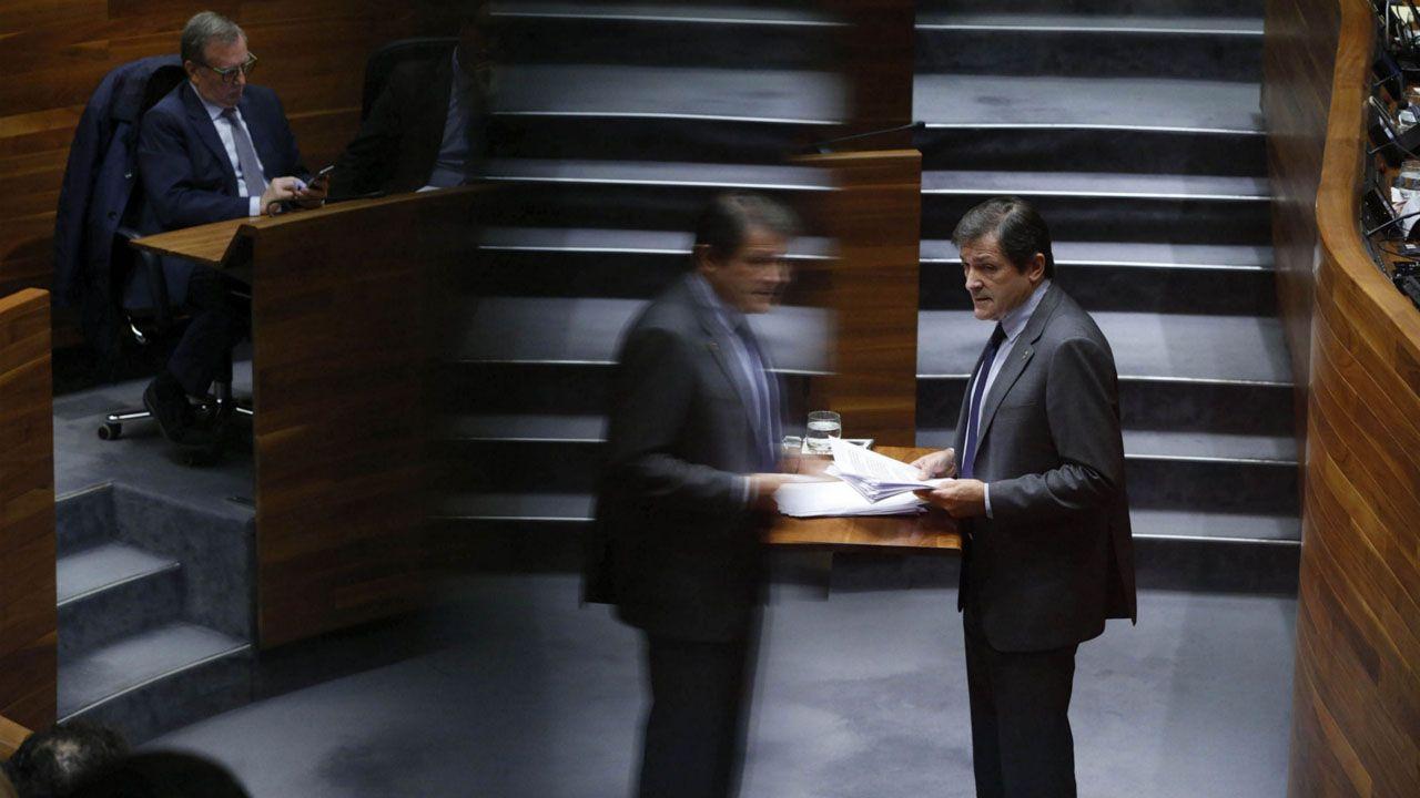 monumento víctimas nazismo.Javier Fernández, en una intervención en el parlamento