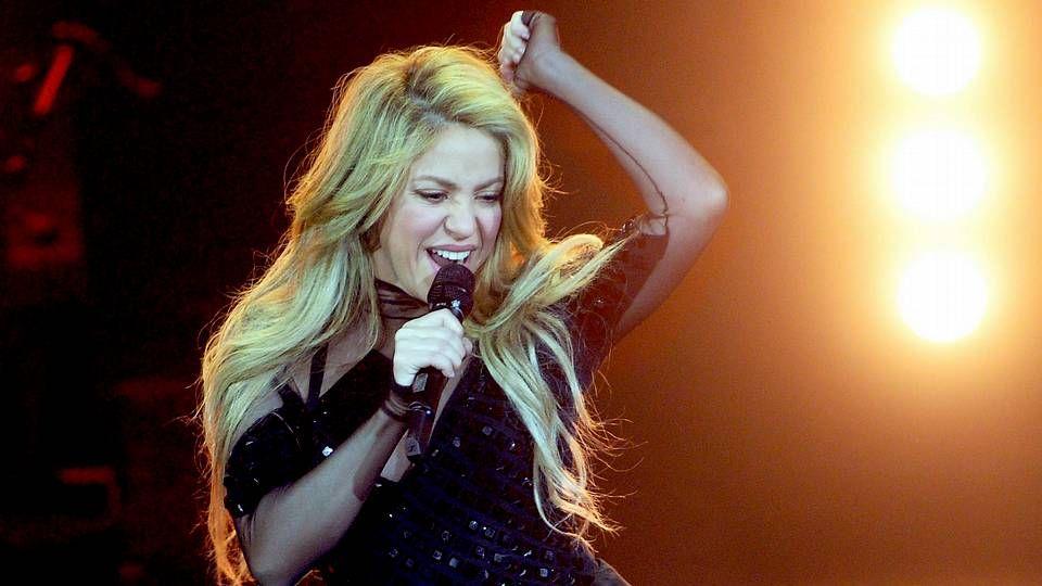 Amaia Salamanca.Shakira se presenta durante la ceremonia de la edición 23 de los Premios de la Música Echo
