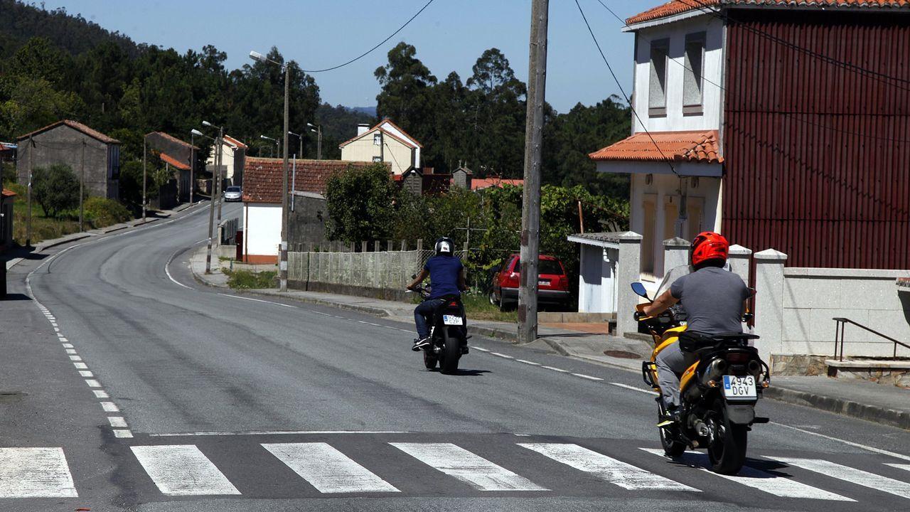 Imagen de archivo de la carretera que conecta Boiro y Noia