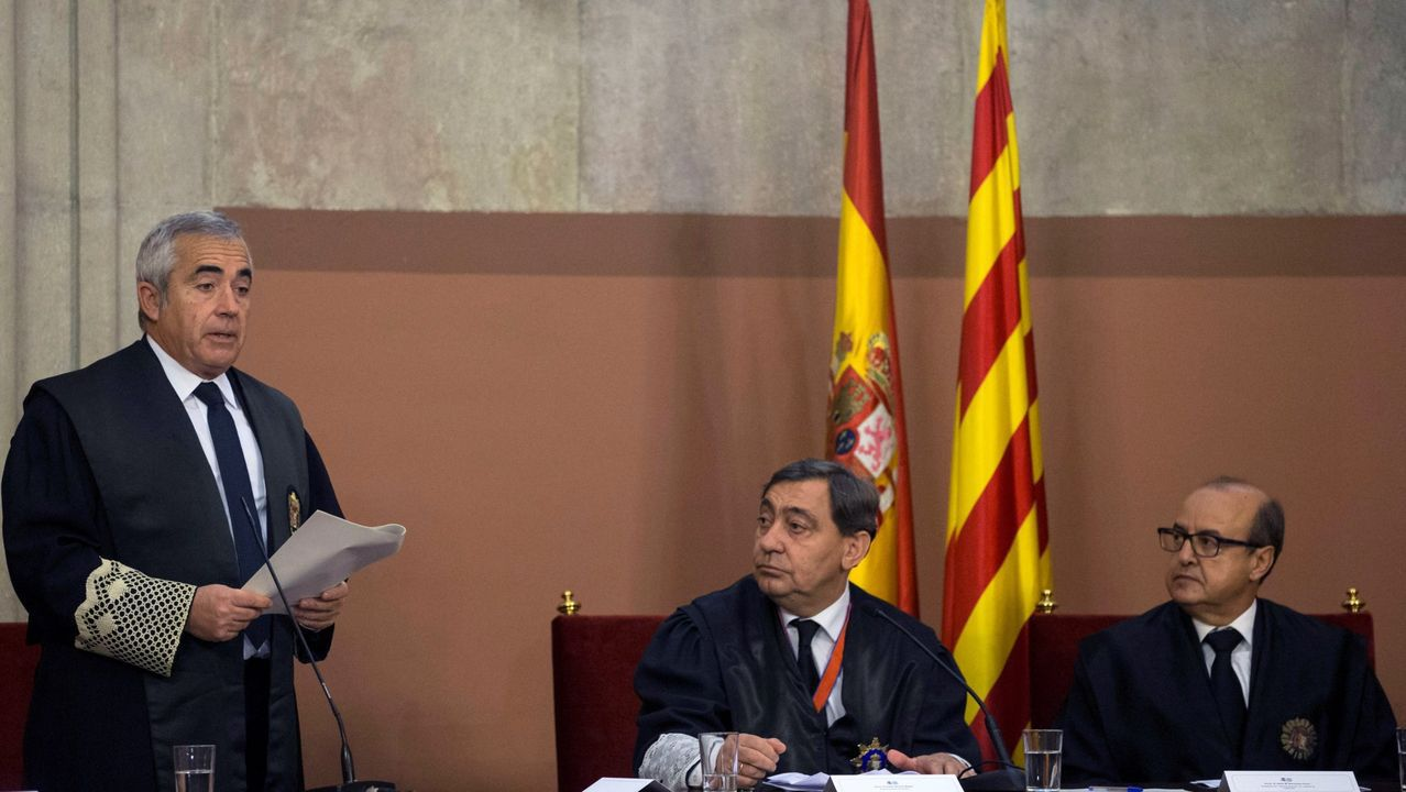 Francisco Bañeres, fiscal superior de Cataluña, durante su toma de posesión