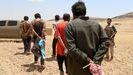 Imagen de archivo de yihadistas detenidos en una operación en Siria